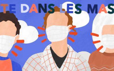 La tête dans les masques : action bénévole de production de masques découpés au laser à la Fabrique numérique de Gonesse